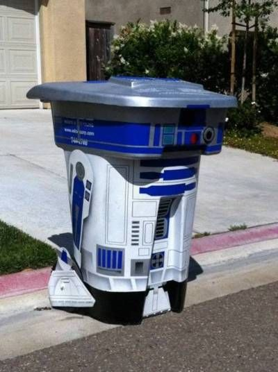 r2d2Nerd, Weekend Projects, Stuff, Awesome, Funny, R2D2 Trash, Stars Wars, Geek Home, Starwars