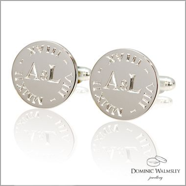 These Lovely Cufflinks Were Commissioned By A Mother For Her Son On His Wedding Day