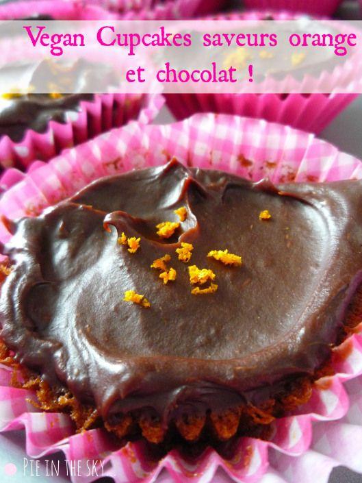Vegan cupcakes orange-chocolate | Vegan Cupcakes | Pinterest