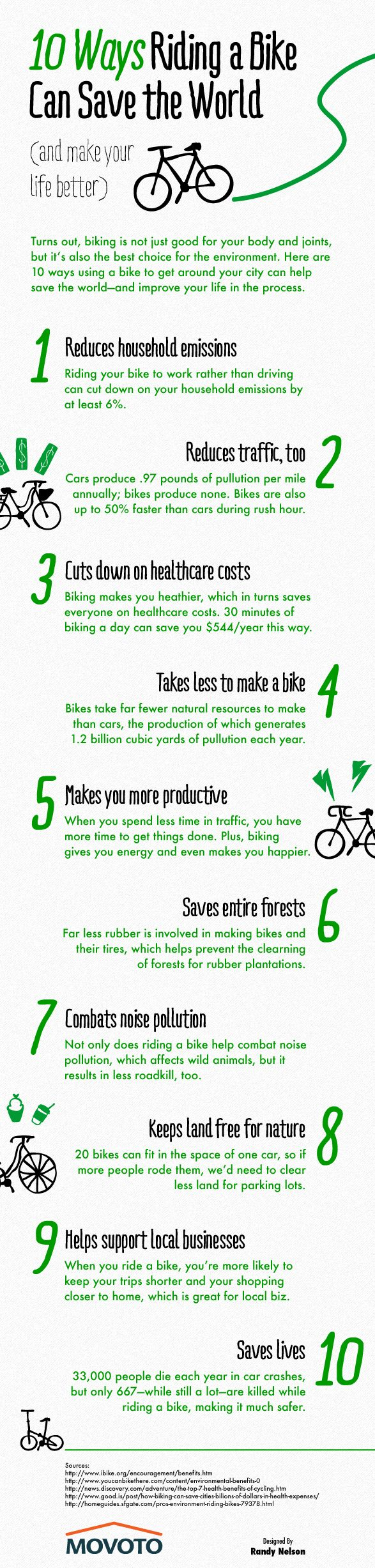 In honor of National Bike Month! (Psst, it's May!) 10 Ways Cycling can Save the World. (Psst it is NEVER to late to learn / take up cycling)