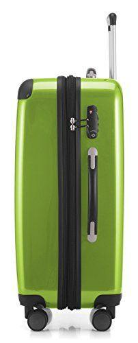 "Amazon.com | HAUPTSTADTKOFFER Luggages Sets Glossy Suitcase Sets Hardside Spinner Trolley Expandable (20"", 24"" & 28"") TSA Black | Luggage Sets"