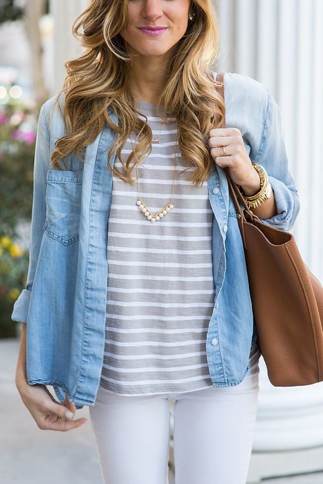 give us chambray and stripes any day.