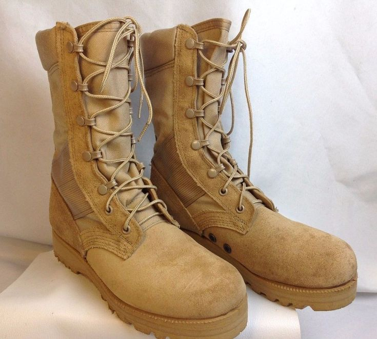 US Military Mens Size 5 Army Hot Weather Jungle Desert Combat Boots Vibram Soles #VibramGenuineUSMilitaryIssue #Military