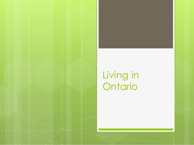 Living in Ontario: Grade 3 Social Studies