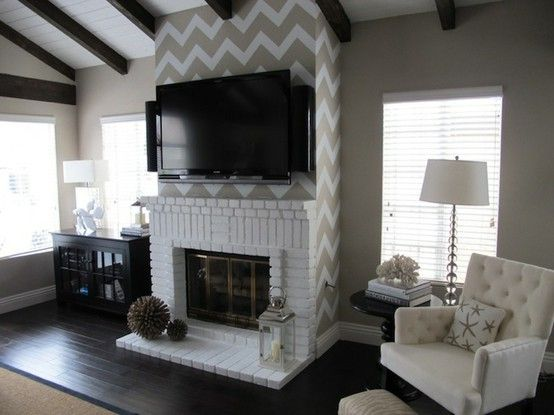 Living Room Ideas With Brick Fireplace And Tv 32 best painted fireplaces images on pinterest | painted