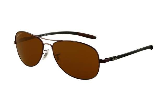 Ray Ban Tech RB8301 Sunglasses Brown Frame Brown Polar