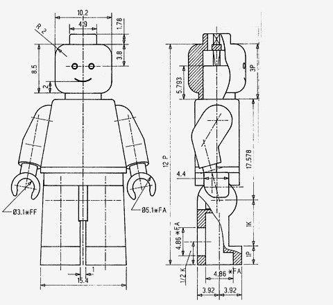 Lego Minifigure Patent drawing by Jens Nygaard Knudsen