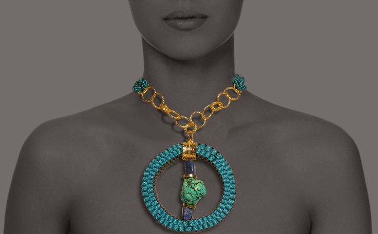 CIRCLE necklace turquoise