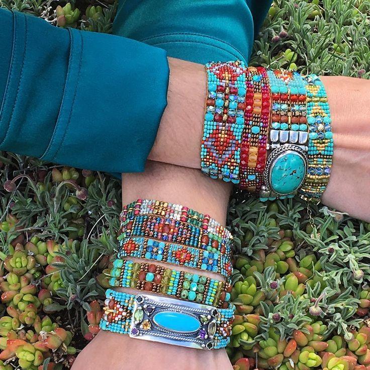 "Peyote Bird Designs (@peyotebirdjewelry) on Instagram: ""Chili Rose in the succulent garden"