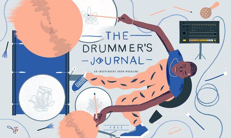 다음 @Behance 프로젝트 확인: \u201cDrummer's Journal Cover\u201d https://www.behance.net/gallery/48986627/Drummers-Journal-Cover