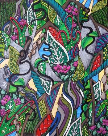 """A Jungle Affair"" #Creative #Art in #painting @Touchtalent http://bit.ly/Touchtalent-p"