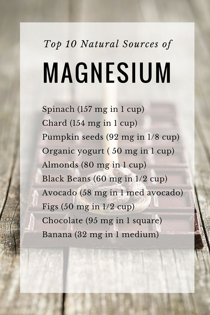 10 natural sources of #magnesium