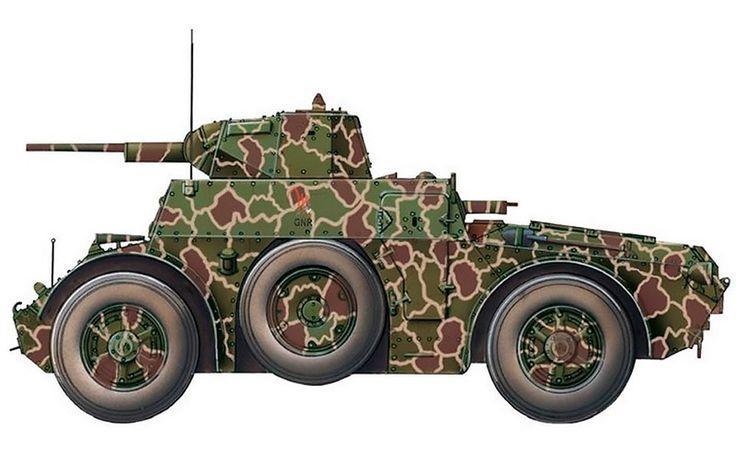 """""""Autoblinda AB 41, Squadrone Comando, Gruppo Squadroni Corazzati 'San Giusto', RSI, avril 1945"""""""