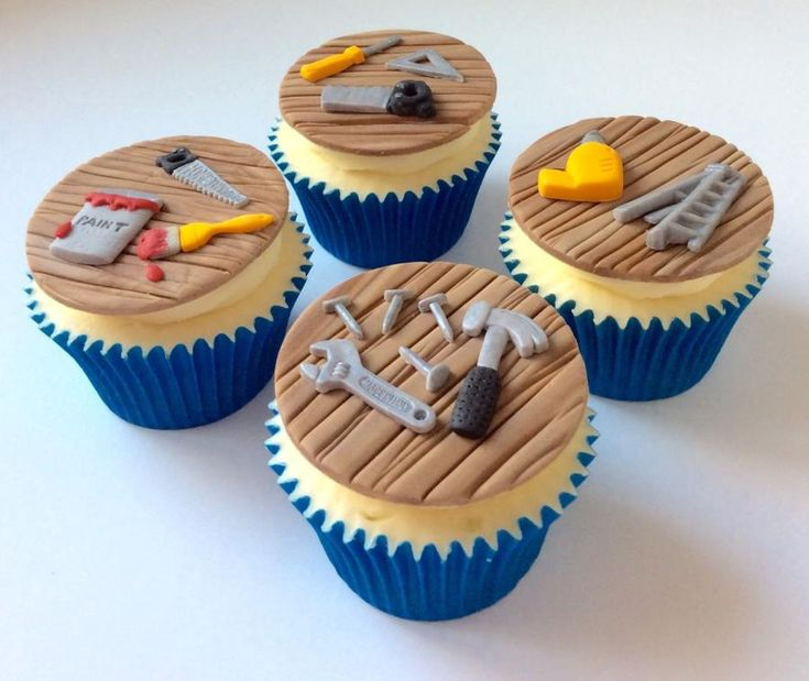 Tool Cupcakes - Cake by Lizzie Bizzie Cakes