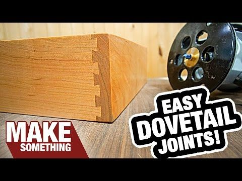 How to Use a Dovetail Jig | Half Blind Dovetails - YouTube