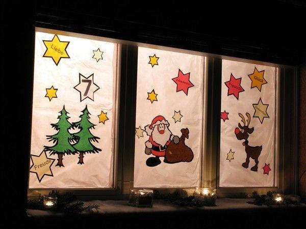 36 besten weihnachten adventsfenster bilder auf - Adventsfenster gestalten ideen ...