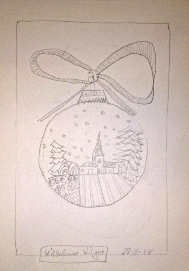 wilhelmine weihnachten bleistift doodeln in marl juli. Black Bedroom Furniture Sets. Home Design Ideas