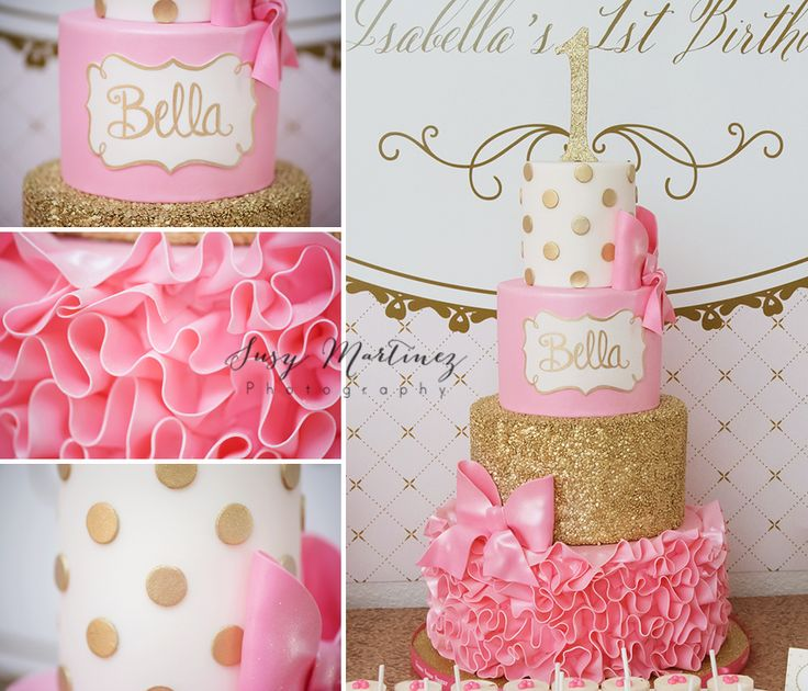 74 best Pink and Gold Cakes images on Pinterest Biscuits Cakes