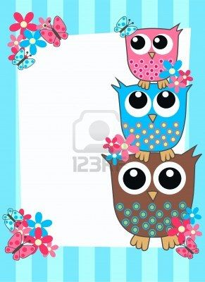 tarjeta de OWL Foto de archivo