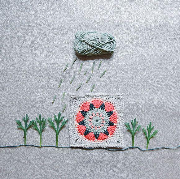 crochet granny square, DIY, photo, flower, handmade, photo