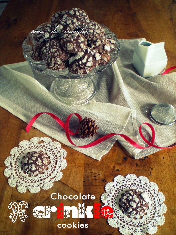 semi di vaniglia: Chocolate crinkle cookies