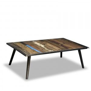 Tables basses industrielles - Table basse industrielle 110cm - NOR207 ...