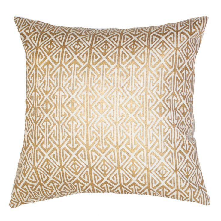 Arrow Print Gold Lounge Cushion 55x55cm