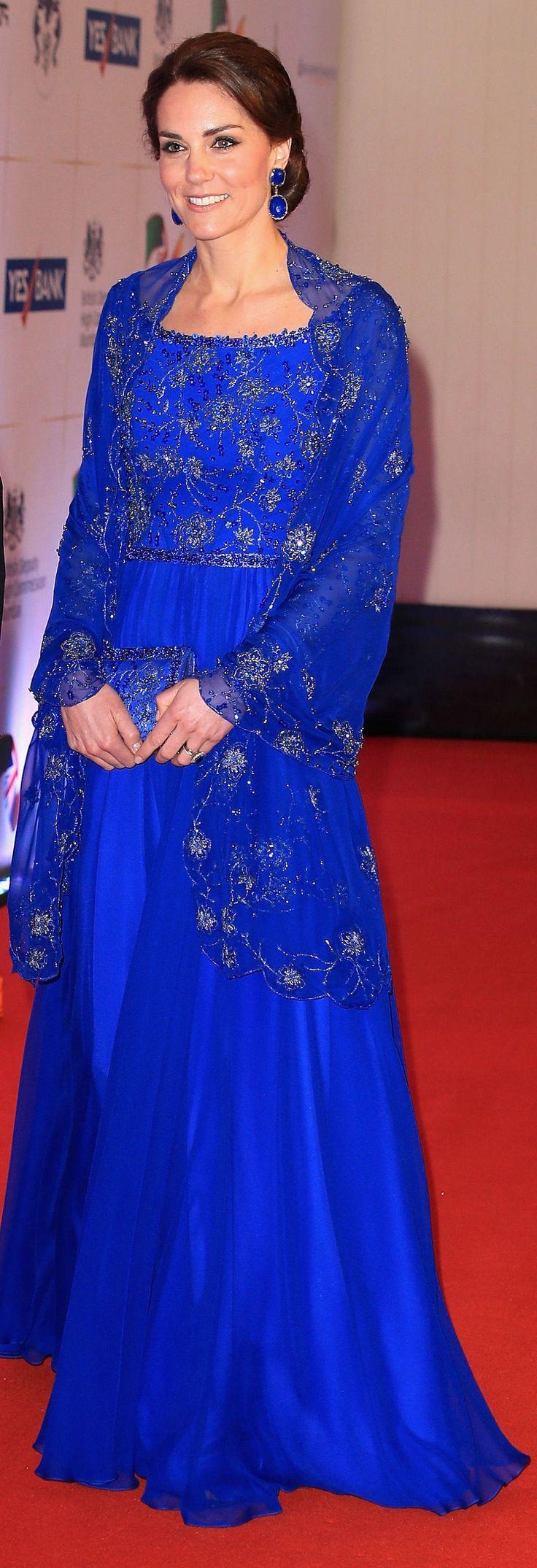 Kate Middleton at a Bollywood Inspired Charity Gala at the Taj Mahal Palace Hotel during the royal visit to India and Bhutan | 4/10/16.