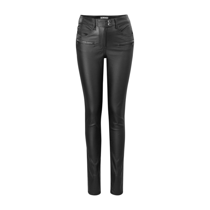 Broek coated zwart | Miss Etam Damesmode