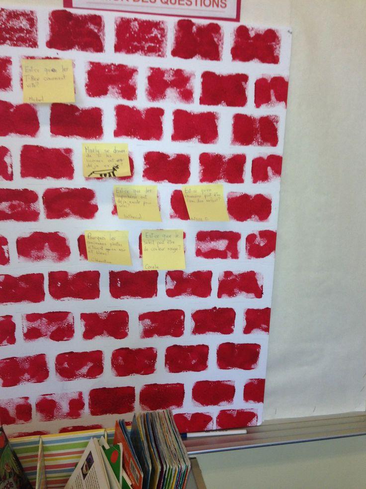 Le mur des questions: une activité stimulante et engageante!