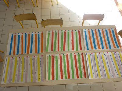 Lignes verticale comme Buren