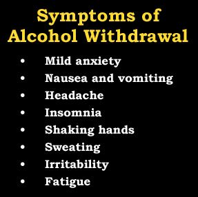 What are the Symptoms of Alcohol Withdrawal?