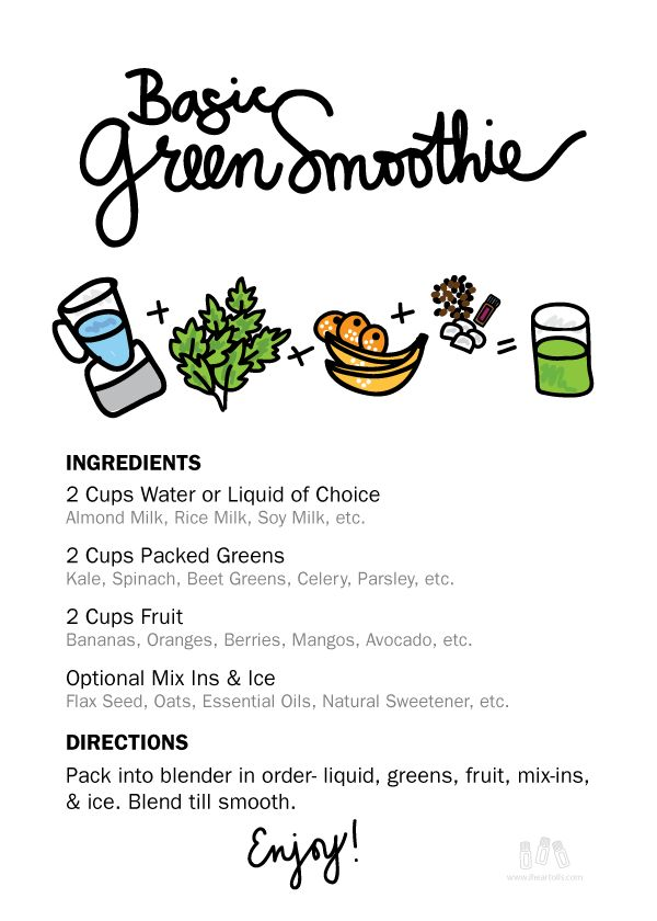 Green Smoothies with Essential Oils