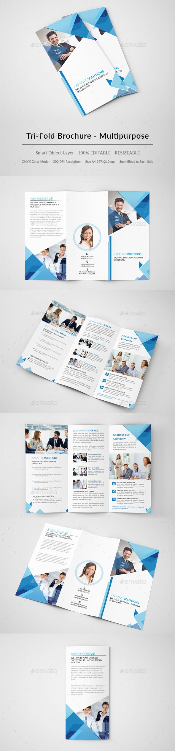 Business Creative Trifold Brochure Template PSD #design Download: http://graphicriver.net/item/business-creative-trifold-brochure/13555480?ref=ksioks