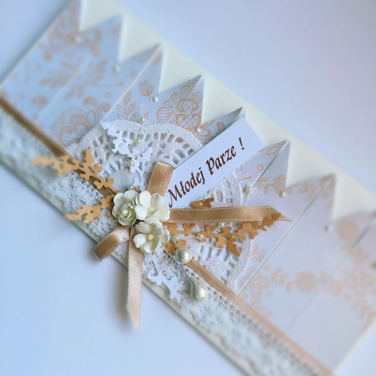 Kartka ślubna wedding card https://www.facebook.com/KastelOfArt/