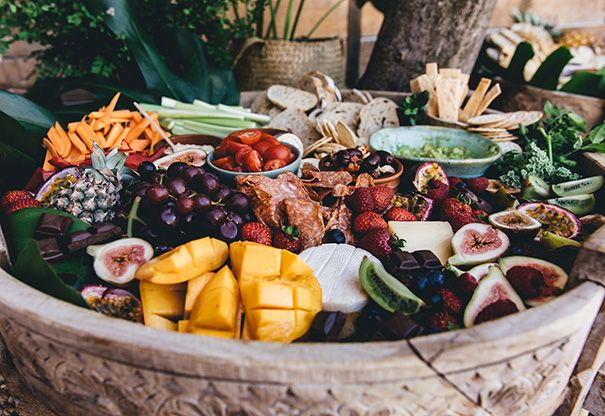 HENS PARTY: BYRON BAY WOMEN'S CIRCLE // #food #platter #fruit #grazing #byronbay #hens #party #wedding #inspiration #cheese