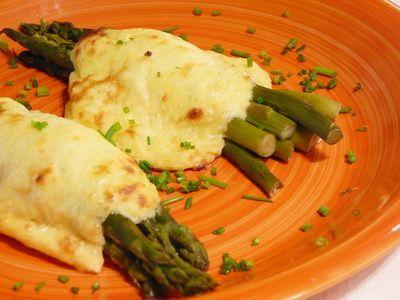 Sajtos, sonkás spárga recept | Rita konyhája - receptek