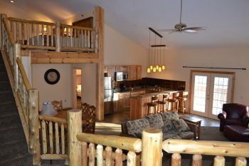 Riverview Suite at Stafford's Crooked River Lodge!  #upnorth  #travel  #family  #snowmobiles