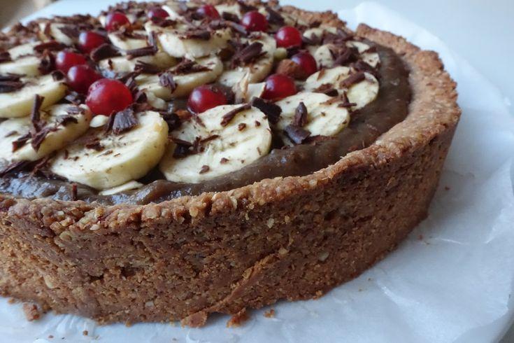 Vegan Banoffee Pie (Lactosevrij en zonder geraffindeerde suiker)