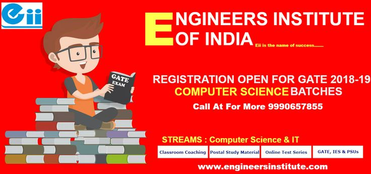 #Admission open For New #Batches #GATE #2018-19 #Computer #Science, #Eii is a leading #GATE #Coaching #Center In #Delhi. Call at For More 9990657855, 9250514888 or visit here https://www.engineersinstitute.com/