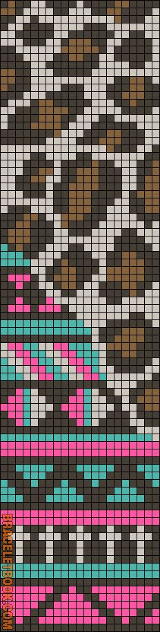 Alpha Friendship Bracelet Pattern #11673 - BraceletBook.com