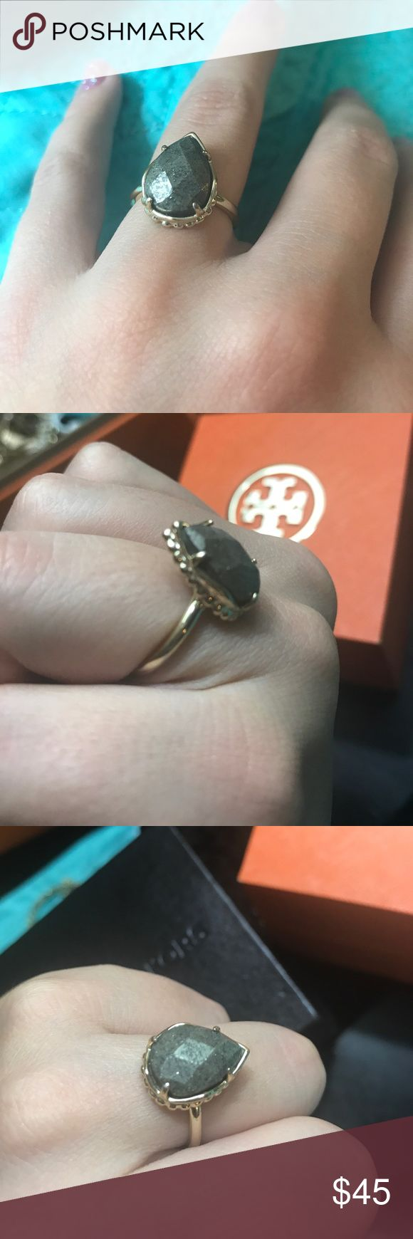 Gold Kendra Scott ring I believe it's a size 6 1/2 or 7. I might have worn this ring once. Bundle with other items for a discount. I have Tory Burch, james Avery and Michael Kors in my closet. Kendra Scott Jewelry Rings