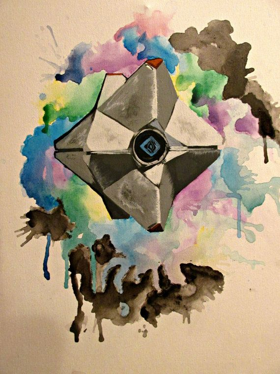 Destiny Ghost Painting. Available on Etsy.