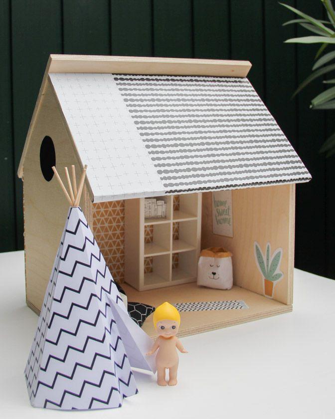 25 einzigartige puppenhaus holz ideen auf pinterest puppenhaus aus holz barbiehaus und. Black Bedroom Furniture Sets. Home Design Ideas