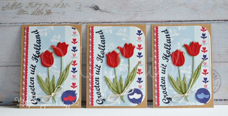 Cards made by Wybrich: ATC- Tulips