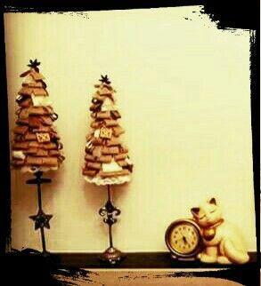 """Alberelli juta e non solo con candelabri trovati in un mercatino dell'usato """"il cuore crea"""" by Beatrice"""