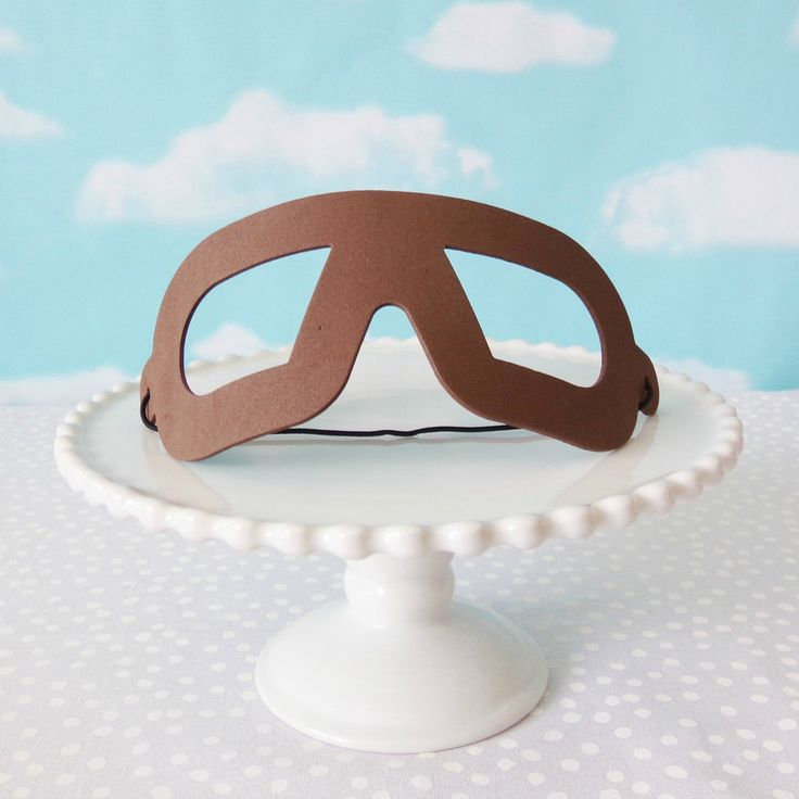 Vintage Airplane Foam Goggles Favors #1st #1st-birthday #airplane