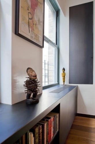 radiator cover with shelves (access/materials?) Eisner Design LLC
