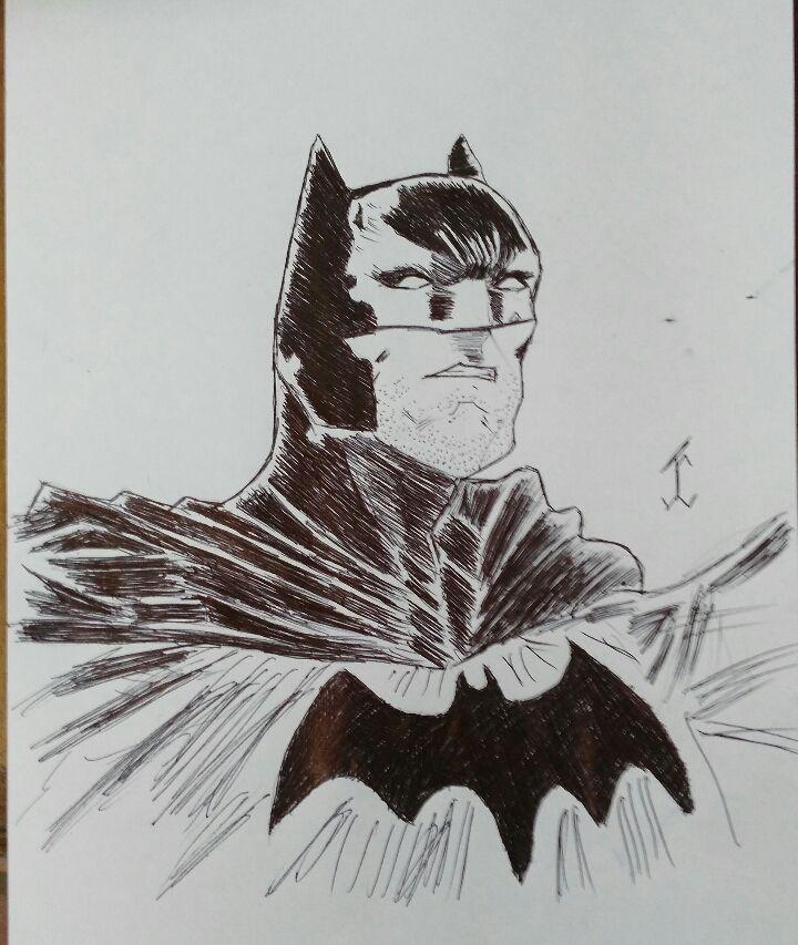 ComicBatman01 #batman #comic #drawing #draw #pen #art #comicdc #movie #brunodiaz #justiceligue