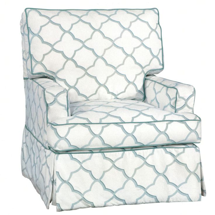 Custom upholstered glider